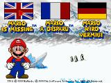 Mario is Missing! DOS Language selection screen