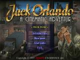 Jack Orlando: A Cinematic Adventure DOS Title & Menu