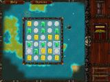 Caribbean Pirate Quest Windows Or first treasure puzzle. I need to clear the blue tiles.