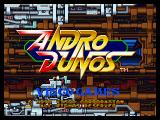 Andro Dunos Neo Geo Title screen