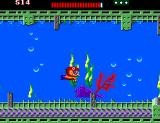 Alex Kidd: The Lost Stars SEGA Master System Alex swimming underwater