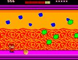 Alex Kidd: The Lost Stars SEGA Master System Alex, why don't you kick the faceball so it can get rid of those green blobs