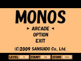 Monos Windows After playing, the high score is shown on the title screen.