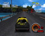 Car and Driver Presents Grand Tour Racing '98 PlayStation Hong Kong, press up for car-horn, press down for the rear-view