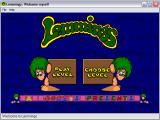 Lemmings for Windows 95 & Lemmings Paintball Windows The welcome screen.