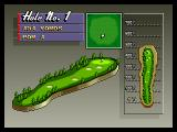 Neo Turf Masters Neo Geo A map of the first hole