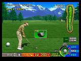 Neo Turf Masters Neo Geo Selecting a club.
