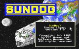 SunDog: Frozen Legacy Atari ST Title screen