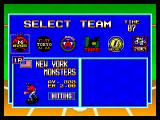 Baseball Stars 2 Neo Geo Team selection