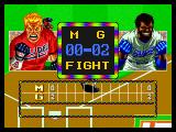 Baseball Stars 2 Neo Geo Changing sides. That's two mean looking players.