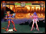 Voltage Fighter Gowcaizer Neo Geo Ladies don't fight, they let the robot do it instead.