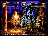 Voltage Fighter Gowcaizer Neo Geo A dirty ninja trick: He electrocuted me.
