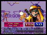 Voltage Fighter Gowcaizer Neo Geo I won and may now take his special move.