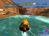 "Turbo Prop Racing PlayStation ""Relative"" water jump ahead."