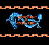 Bandit Kings of Ancient China NES Title Screen