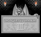 Dragon Warrior III NES Title Screen