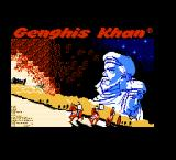 Genghis Khan NES Title Screen