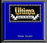 Ultima IV: Quest of the Avatar NES Title Screen