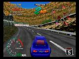 High Velocity: Mountain Racing Challenge SEGA Saturn The game lets you see a long way down the course.