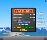 Demolition City Browser The results screen.