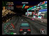 High Velocity: Mountain Racing Challenge SEGA Saturn Racing at Night