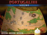 Portugal 1111: A Conquista de Soure Windows This is campaign screen, showing the player position and mission objectives.