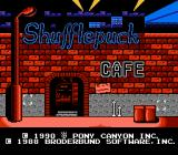 Shufflepuck Cafe NES Title screen
