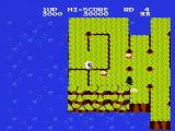 Dig Dug II: Trouble in Paradise NES Part of the island falling into the ocean