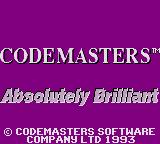 Cosmic Spacehead Game Gear Codemasters logo