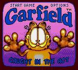 Garfield: Caught in the Act Game Gear Title screen