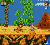 Garfield: Caught in the Act Game Gear In game