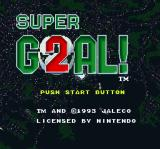 Super Goal! 2 SNES Title screen
