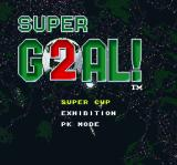 Super Goal! 2 SNES Main menu