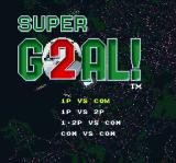 Super Goal! 2 SNES Choose the number of players