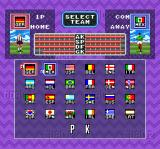 Super Goal! 2 SNES Penalty Kick team select