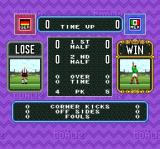 Super Goal! 2 SNES End of the penalty kick stats