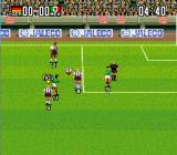 Super Goal! 2 SNES A pass icon appears over players on the same team as the ball carrier