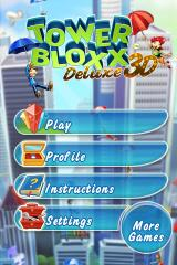 Tower Bloxx Deluxe 3D iPhone Main Menu