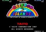Bubble Bobble also featuring Rainbow Islands DOS Title screen [Rainbow Islands Enhanced]