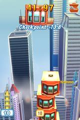 Tower Bloxx Deluxe 3D iPhone Each checkpoint gives you extra time.