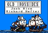 Old Ironsides Apple II Title screen features a pair of animated ships