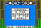 Old Ironsides Apple II Choose your preferred input
