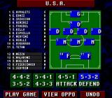 Championship Soccer '94 SNES Choose a formation