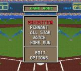 The Sporting News Baseball SNES Main menu