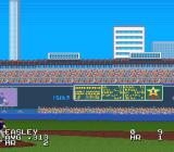 The Sporting News Baseball SNES A home run hit