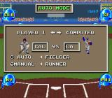 The Sporting News Baseball SNES The match-up