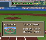 The Sporting News Baseball SNES Select a stadium