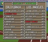 The Sporting News Baseball SNES Select a pitcher