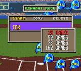 The Sporting News Baseball SNES Choose how long the season will be
