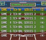 The Sporting News Baseball SNES Schedule